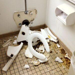 Shattered Toilet